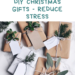 Easy Last Minute DIY Christmas Gifts ~ Reduce Stress